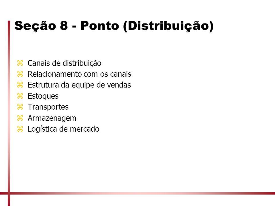 Seção 8 - Ponto (Distribuição)