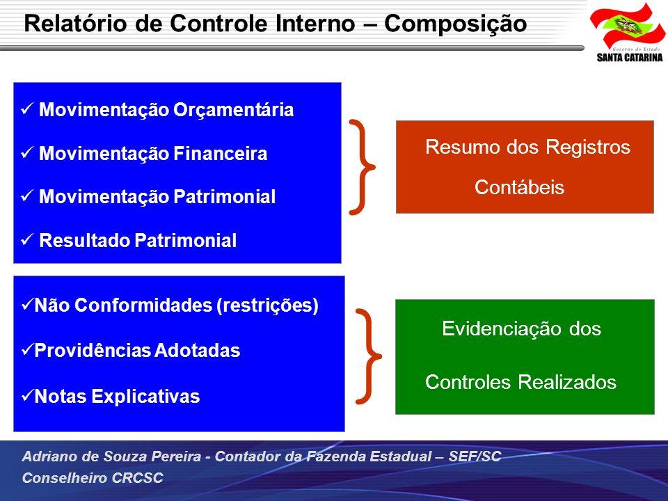 Relatório de Controle Interno – Composição