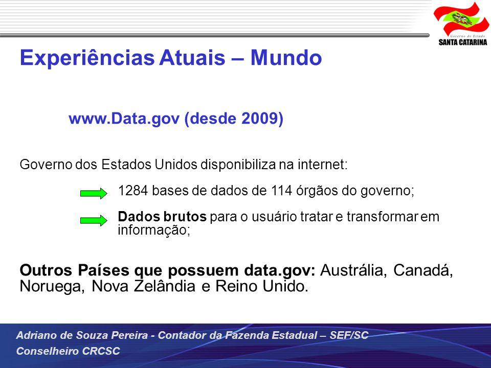 Experiências Atuais – Mundo www.Data.gov (desde 2009)
