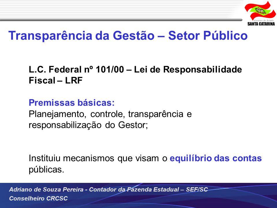 Transparência da Gestão – Setor Público