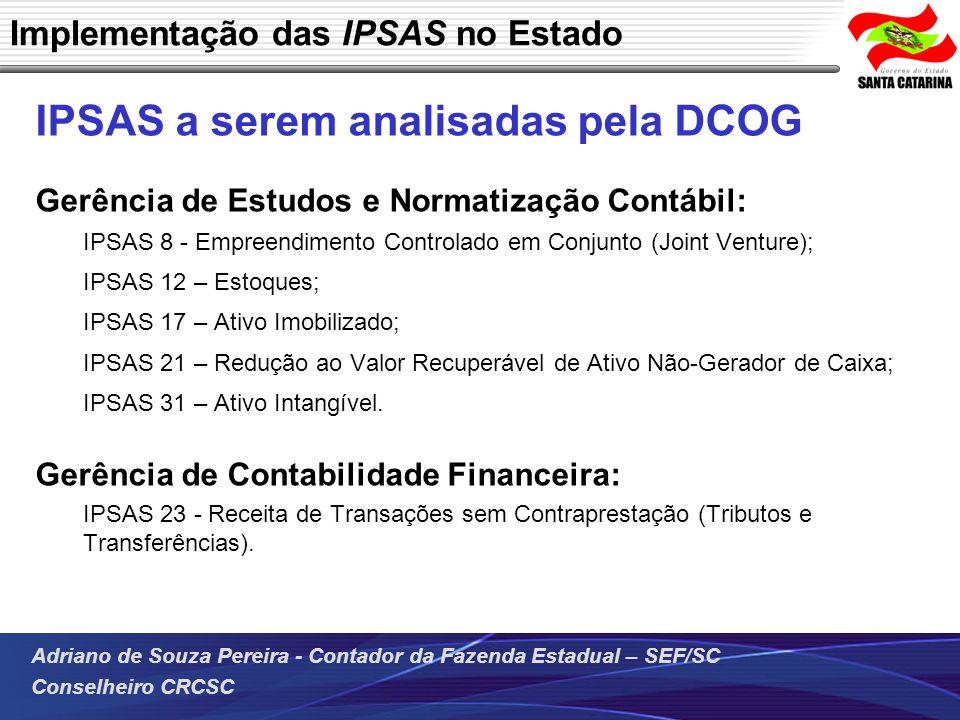 Implementação das IPSAS no Estado