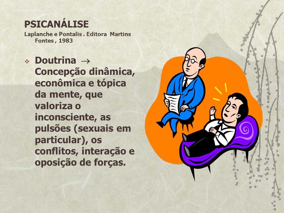 PSICANÁLISELaplanche e Pontalis . Editora Martins Fontes , 1983.