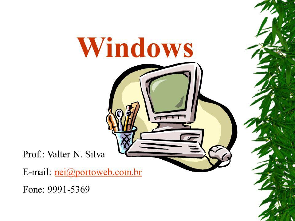 Windows Prof.: Valter N. Silva E-mail: nei@portoweb.com.br