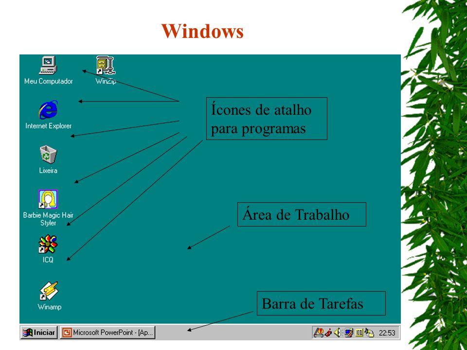 Windows Ícones de atalho para programas Área de Trabalho