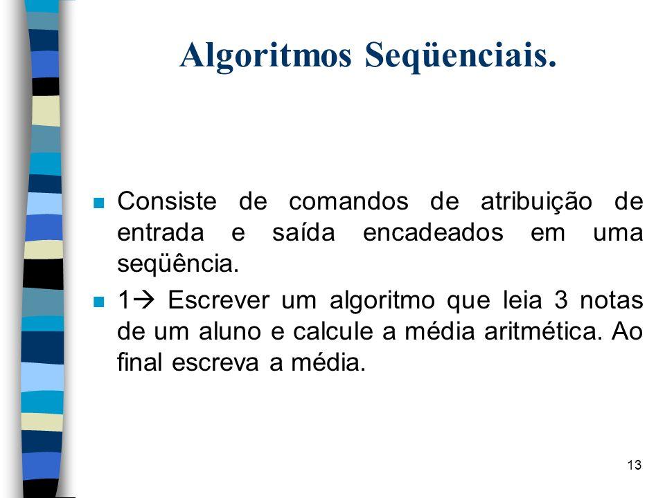 Algoritmos Seqüenciais.