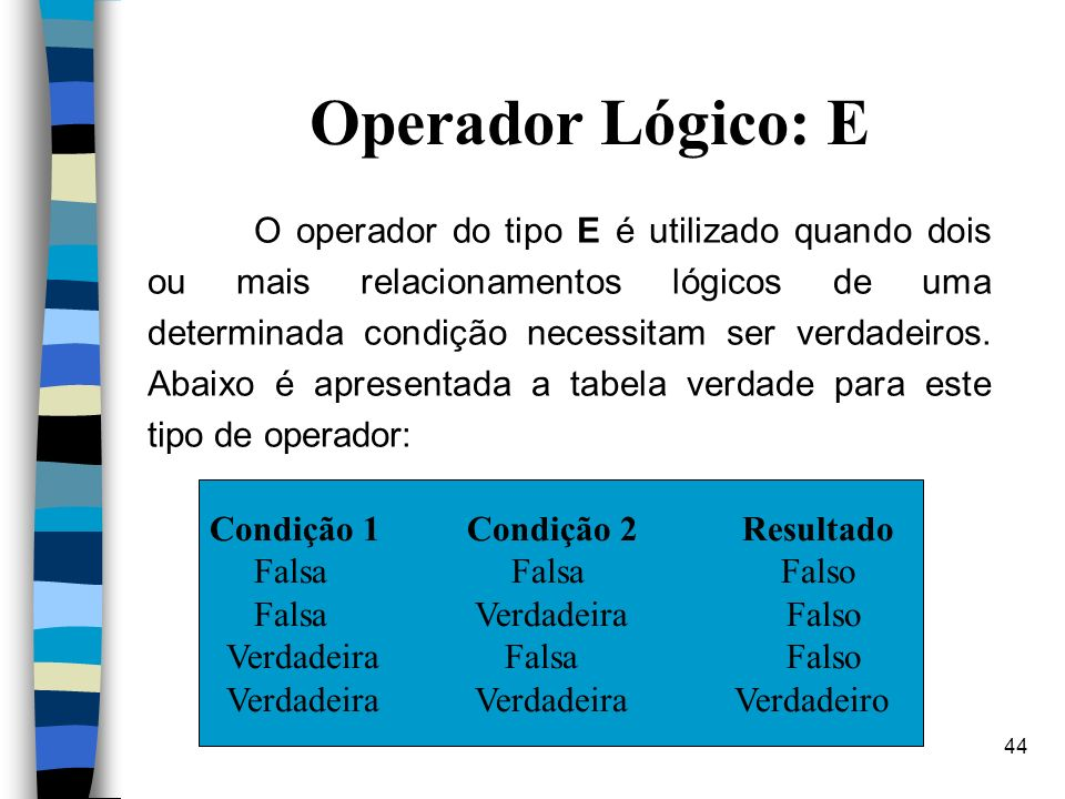 Operador Lógico: E