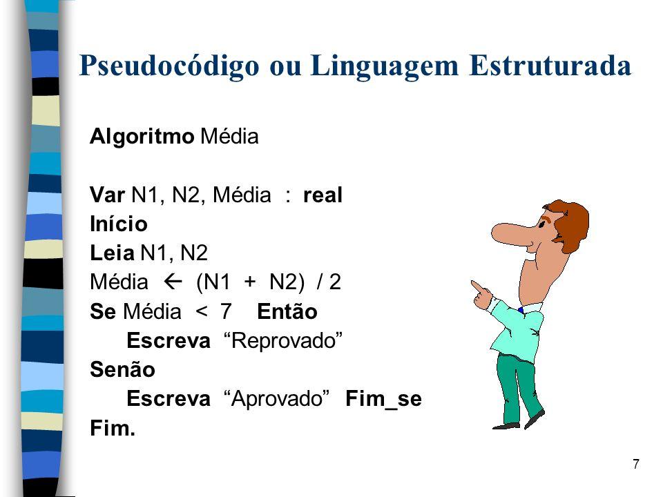 Pseudocódigo ou Linguagem Estruturada