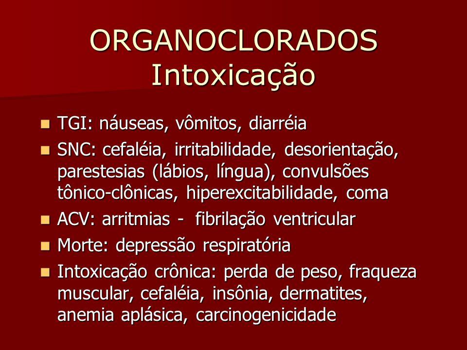 ORGANOCLORADOS Intoxicação
