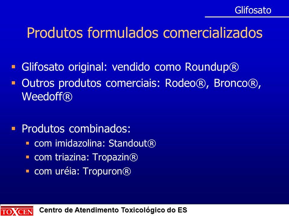 Produtos formulados comercializados