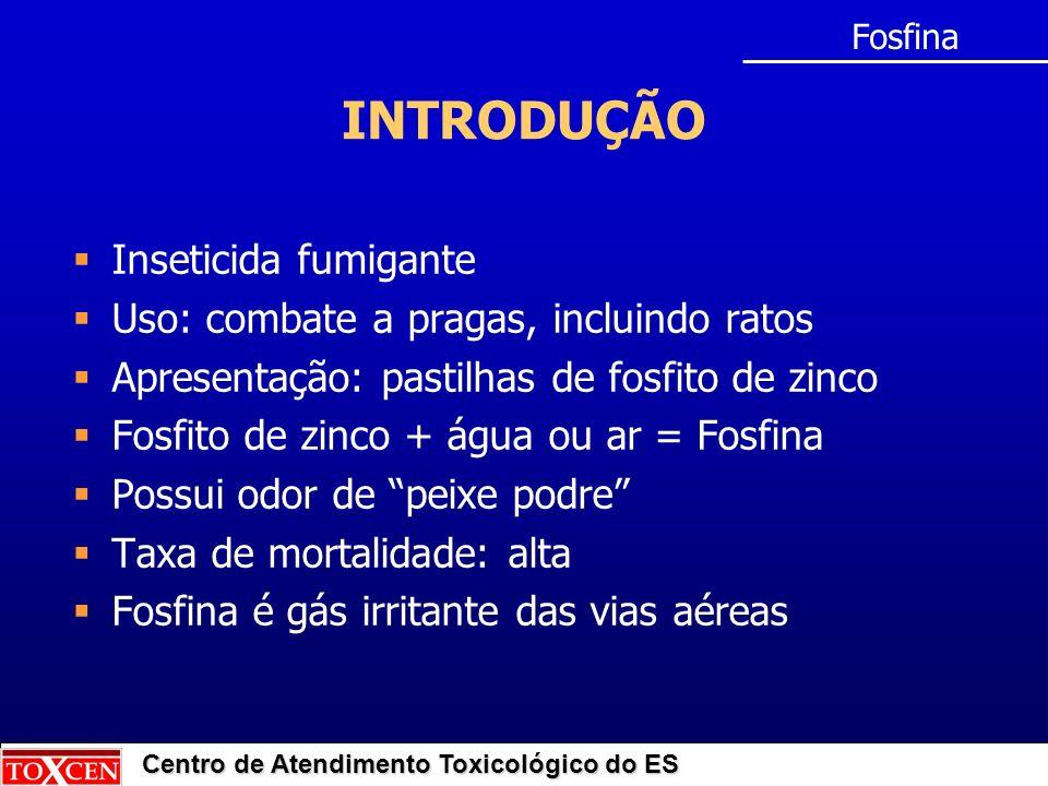 INTRODUÇÃO Inseticida fumigante Uso: combate a pragas, incluindo ratos