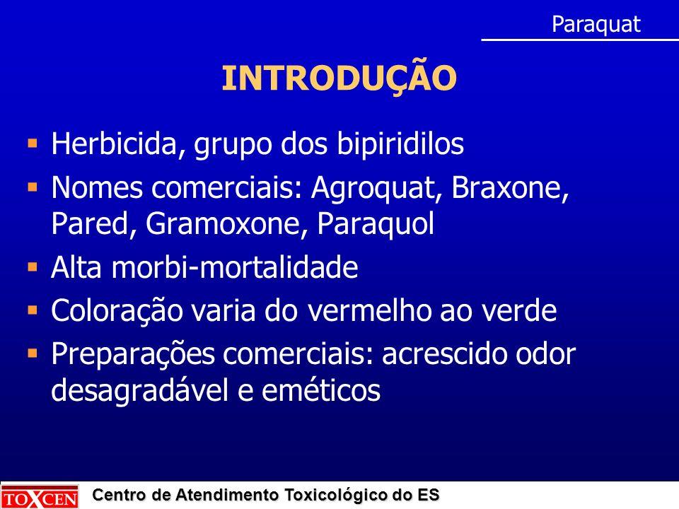 INTRODUÇÃO Herbicida, grupo dos bipiridilos