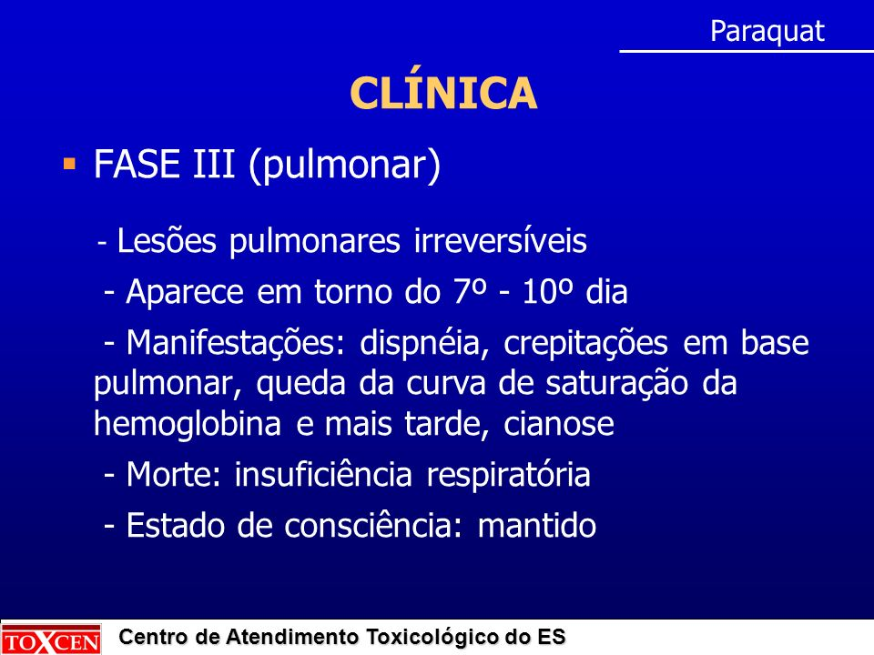 CLÍNICA FASE III (pulmonar) - Aparece em torno do 7º - 10º dia