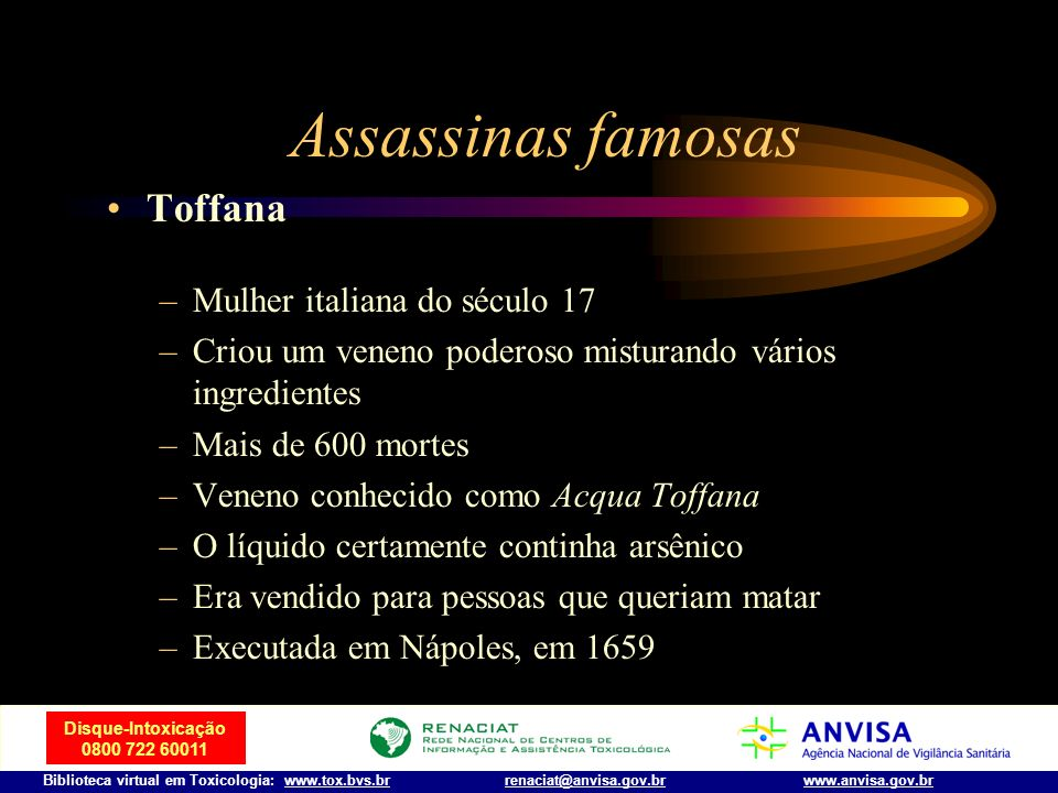 Assassinas famosas Toffana Mulher italiana do século 17