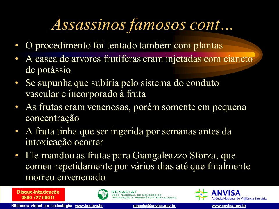 Assassinos famosos cont…