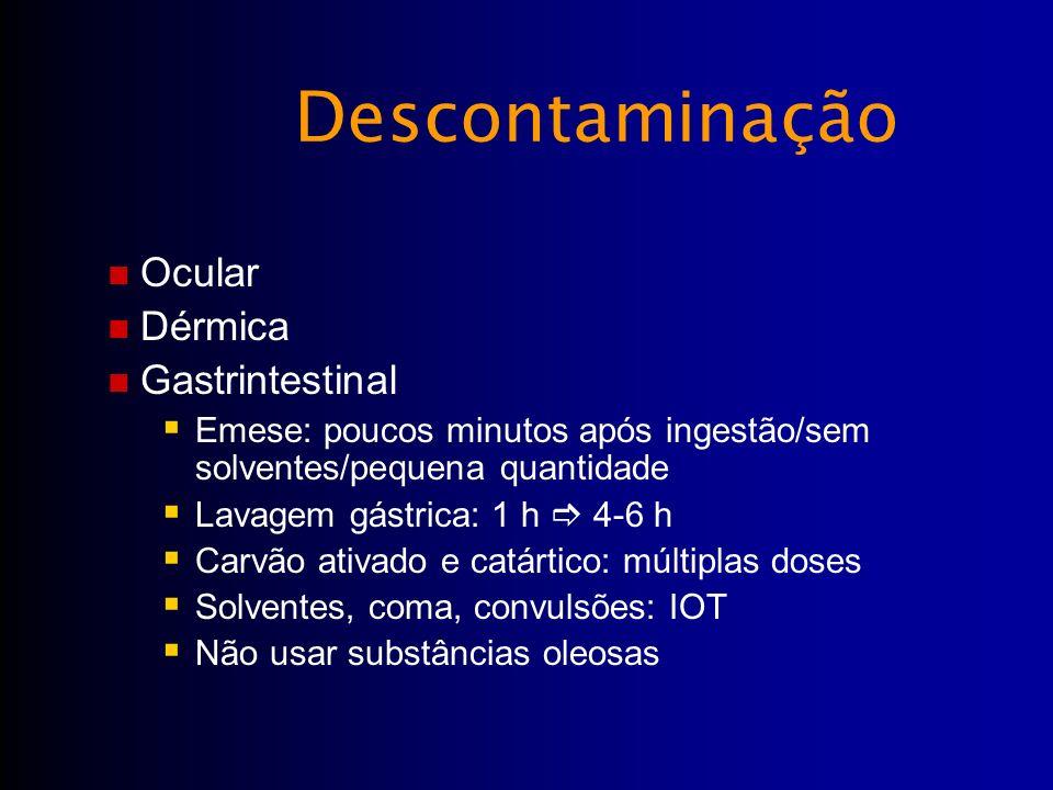 Descontaminação Ocular Dérmica Gastrintestinal