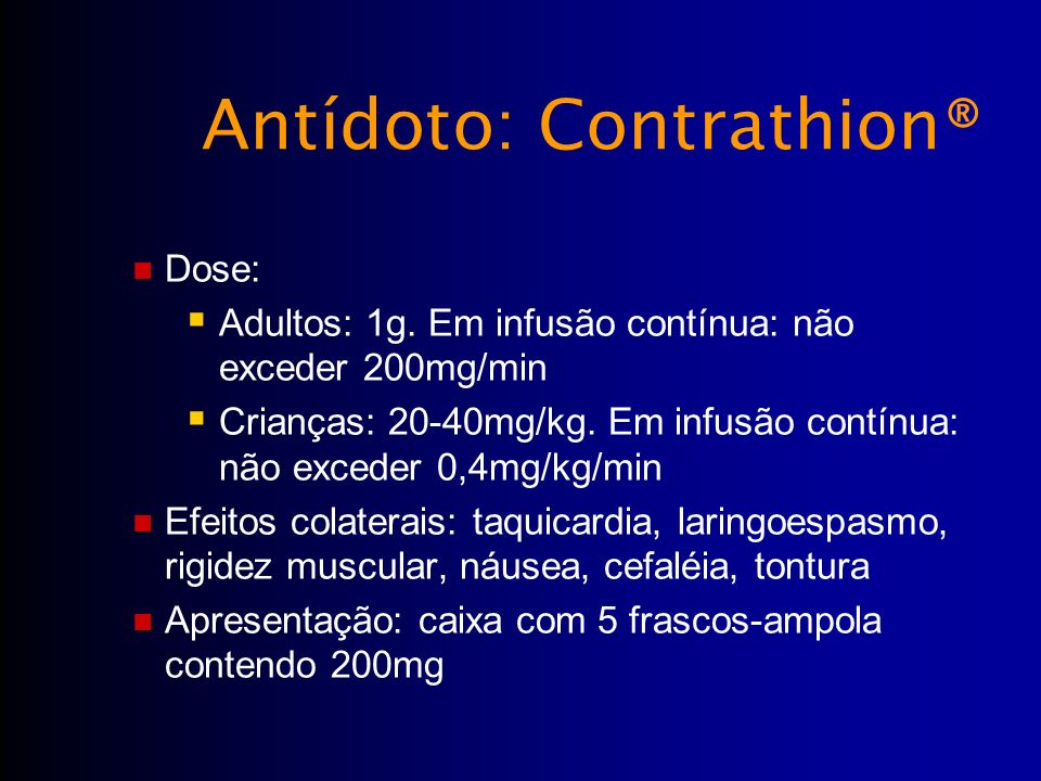 Antídoto: Contrathion®