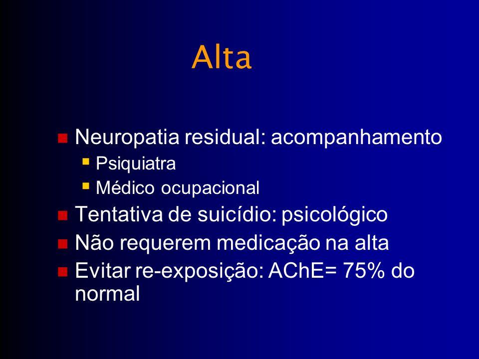 Alta Neuropatia residual: acompanhamento