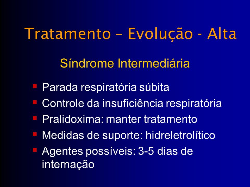 Tratamento – Evolução - Alta