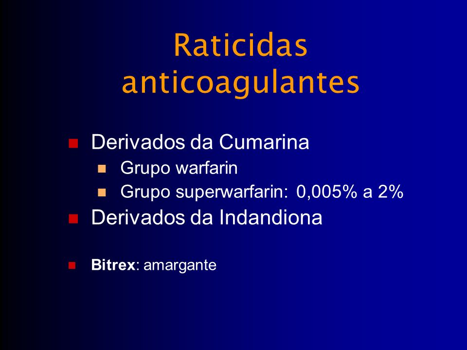 Raticidas anticoagulantes