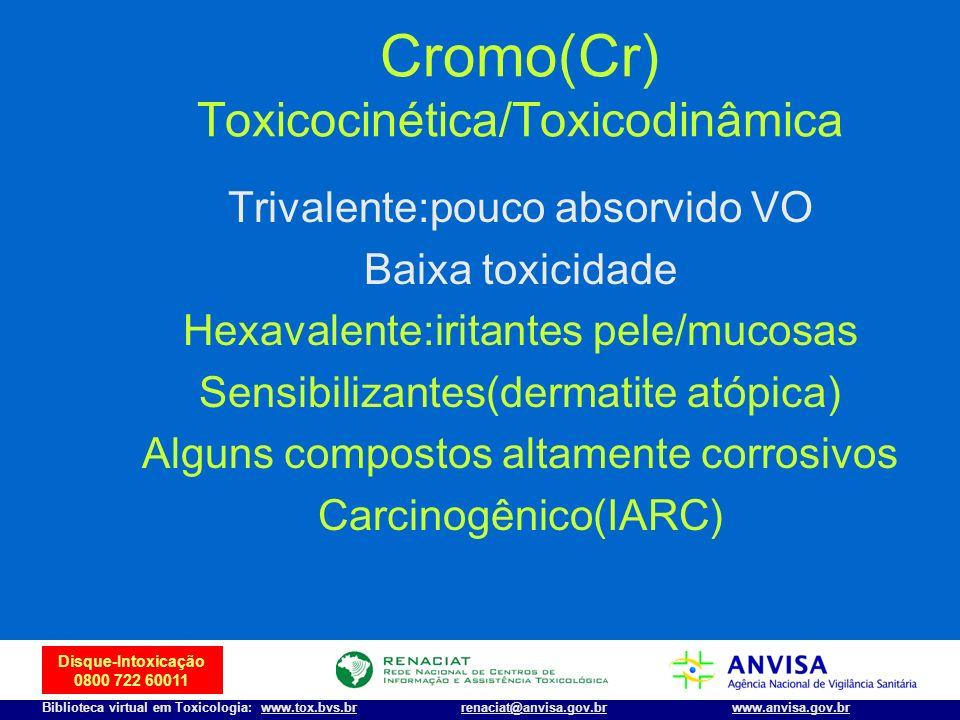 Cromo(Cr) Toxicocinética/Toxicodinâmica