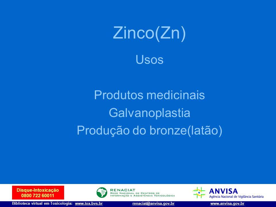 Produção do bronze(latão)