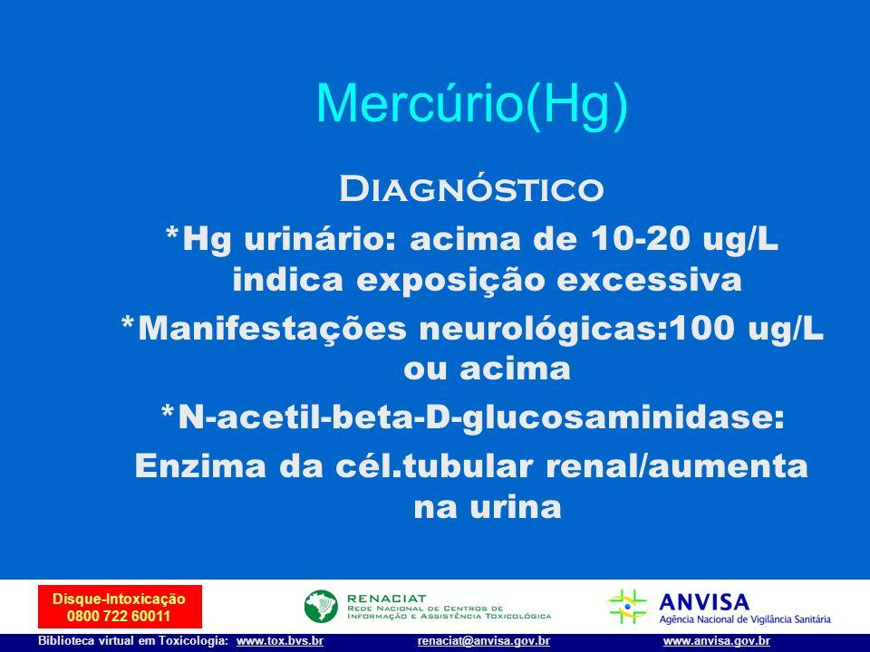 Mercúrio(Hg) Diagnóstico