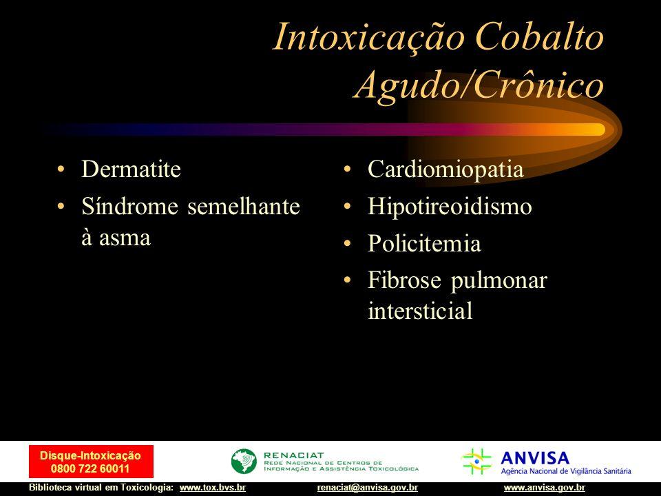 Intoxicação Cobalto Agudo/Crônico