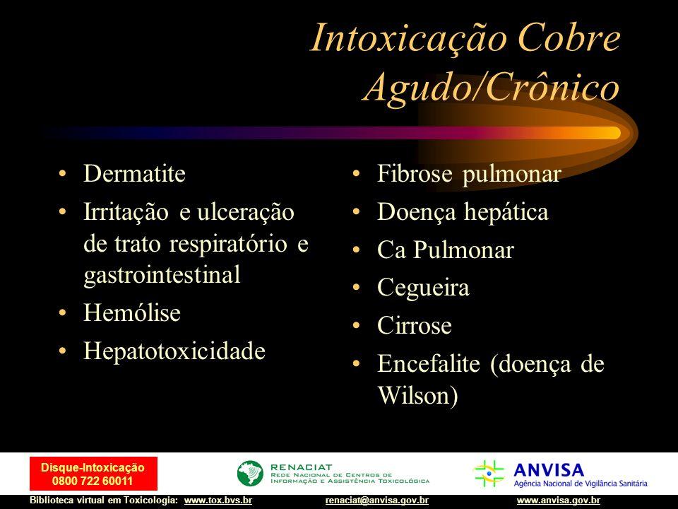 Intoxicação Cobre Agudo/Crônico
