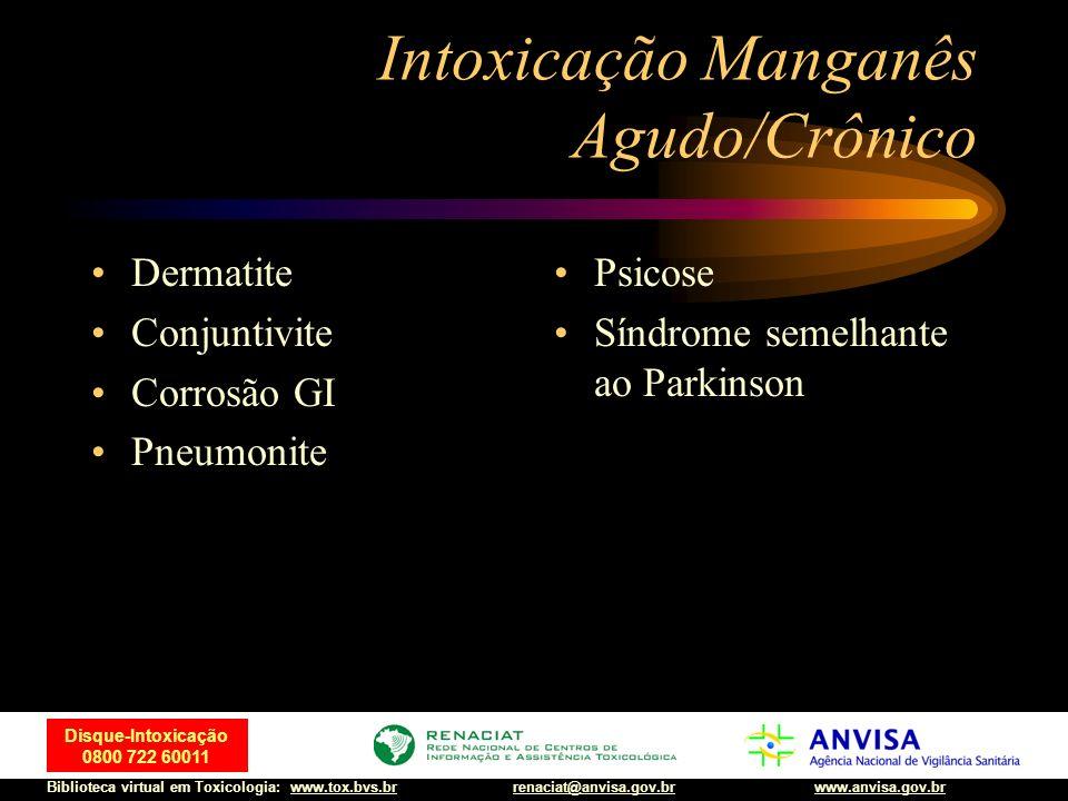 Intoxicação Manganês Agudo/Crônico