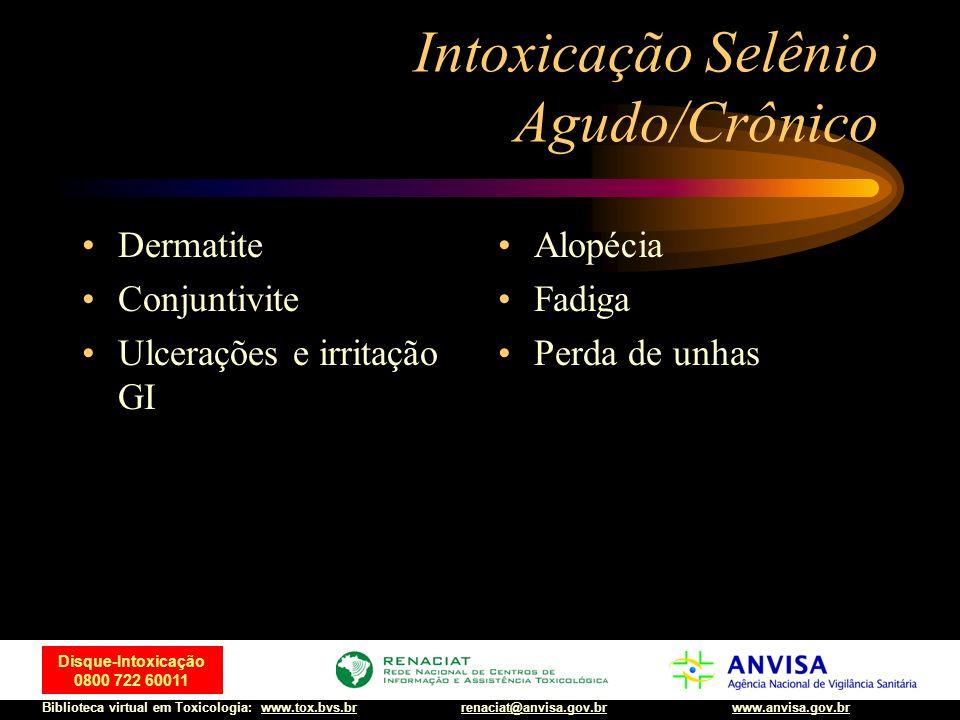 Intoxicação Selênio Agudo/Crônico