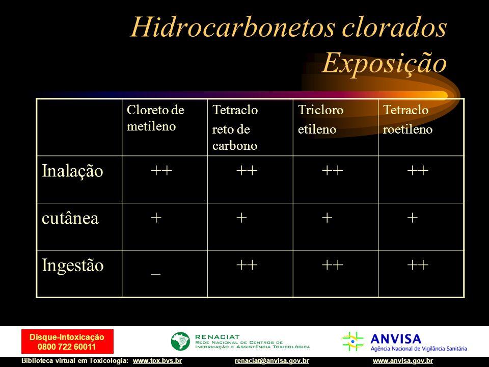Hidrocarbonetos clorados Exposição