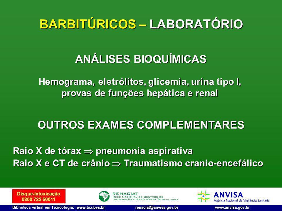 BARBITÚRICOS – LABORATÓRIO