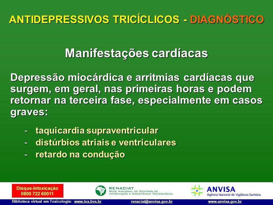 ANTIDEPRESSIVOS TRICÍCLICOS - DIAGNÓSTICO