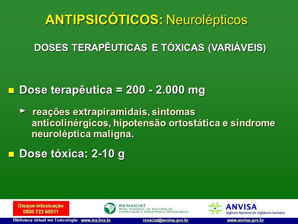 ANTIPSICÓTICOS: Neurolépticos