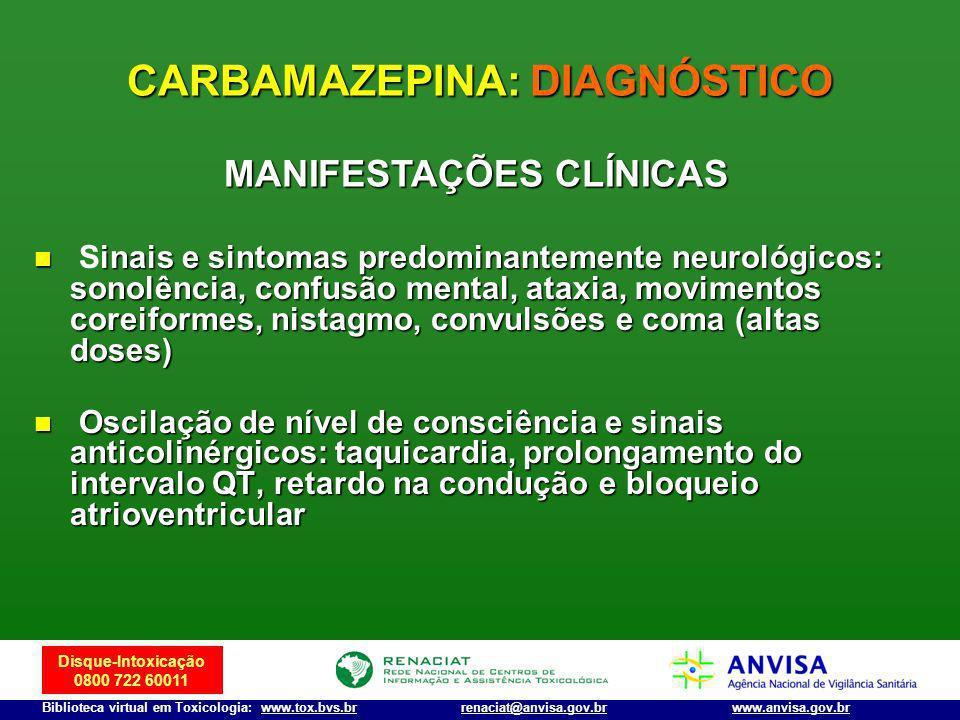 CARBAMAZEPINA: DIAGNÓSTICO