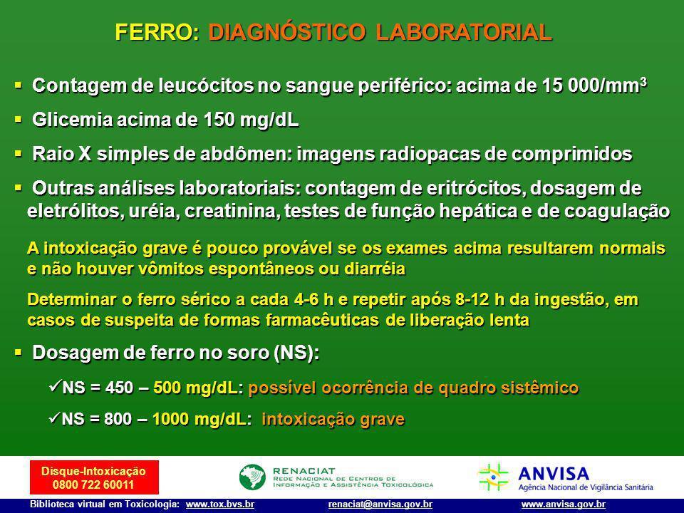 FERRO: DIAGNÓSTICO LABORATORIAL