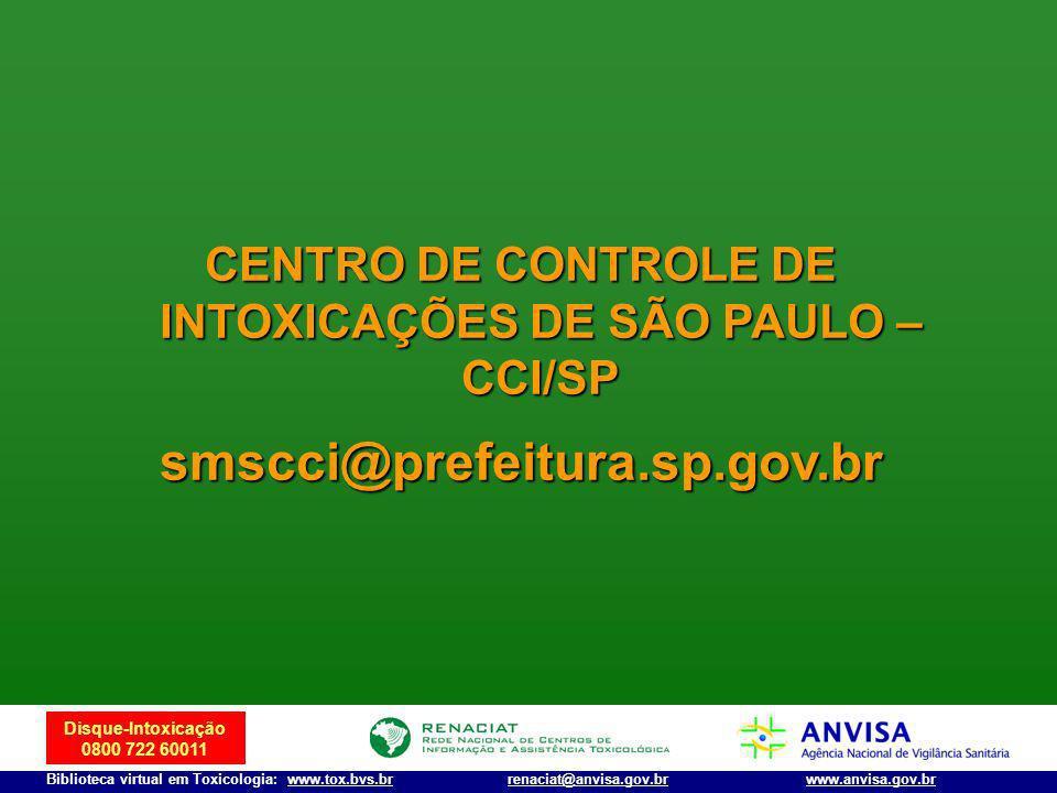 CENTRO DE CONTROLE DE INTOXICAÇÕES DE SÃO PAULO – CCI/SP
