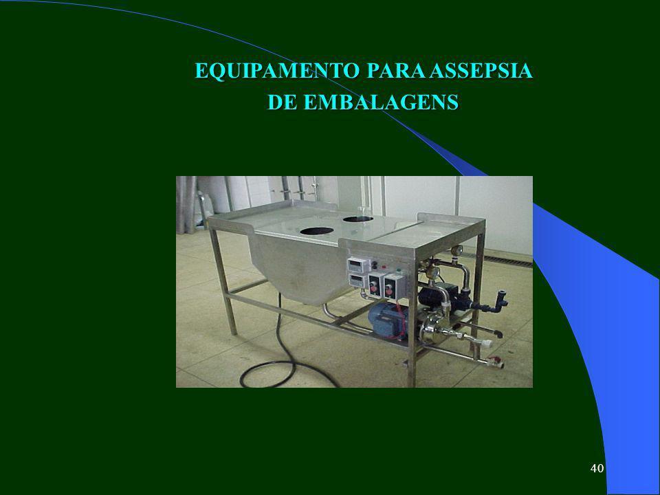 EQUIPAMENTO PARA ASSEPSIA DE EMBALAGENS
