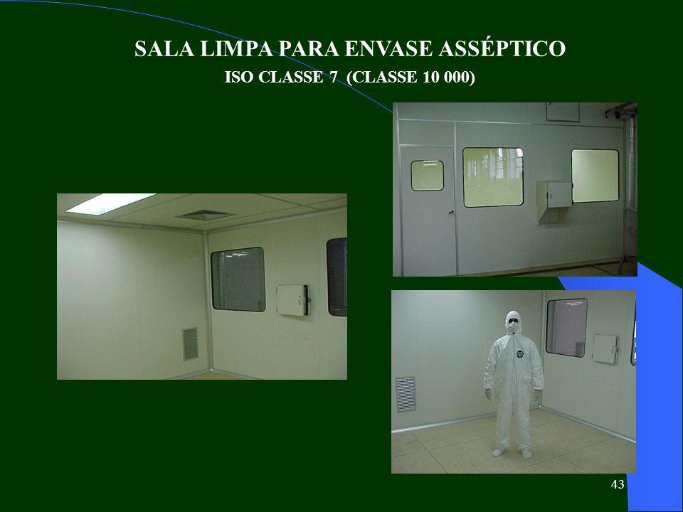 SALA LIMPA PARA ENVASE ASSÉPTICO ISO CLASSE 7 (CLASSE 10 000)