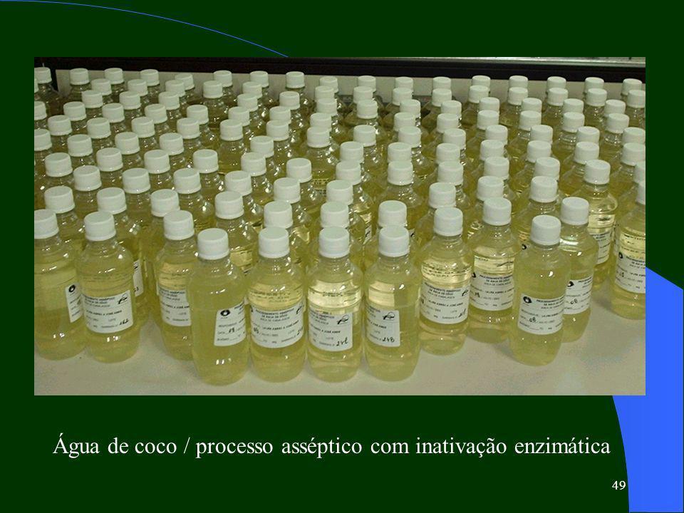 Água de coco / processo asséptico com inativação enzimática