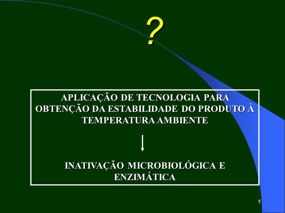 INATIVAÇÃO MICROBIOLÓGICA E ENZIMÁTICA