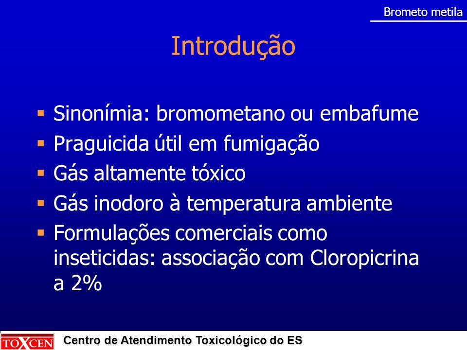 Introdução Sinonímia: bromometano ou embafume