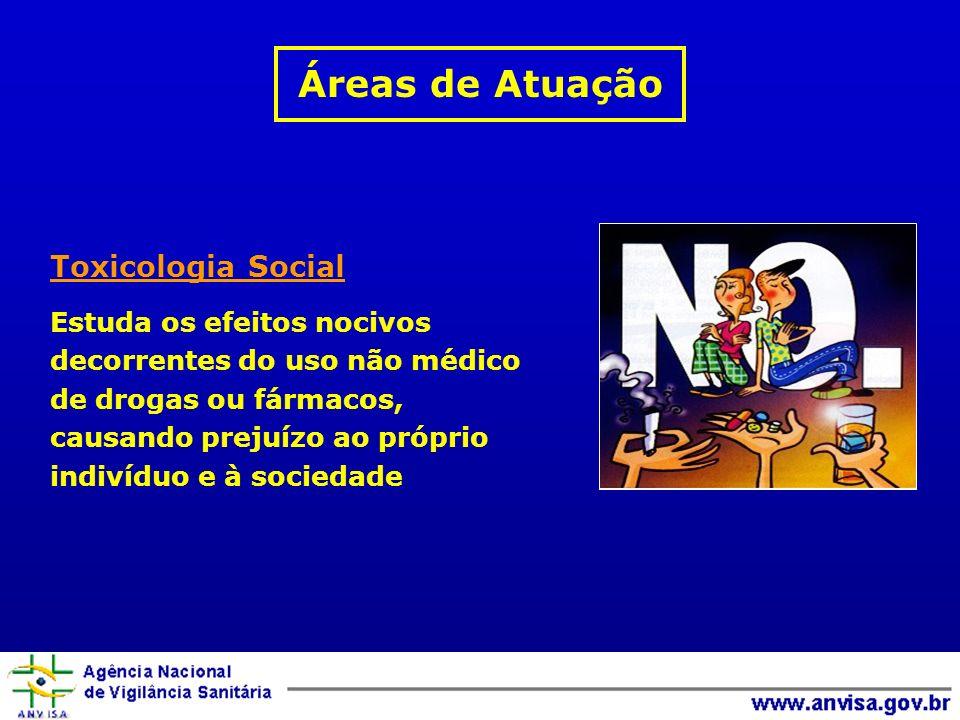 Áreas de Atuação Toxicologia Social