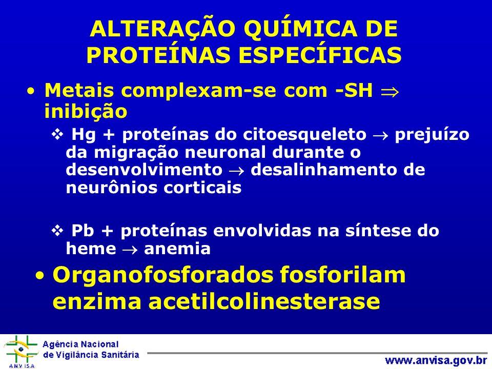 ALTERAÇÃO QUÍMICA DE PROTEÍNAS ESPECÍFICAS