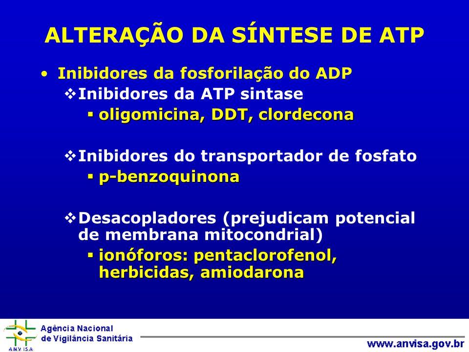 ALTERAÇÃO DA SÍNTESE DE ATP