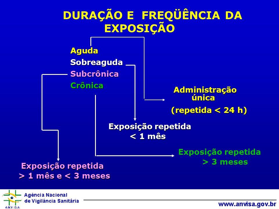 DURAÇÃO E FREQÜÊNCIA DA EXPOSIÇÃO