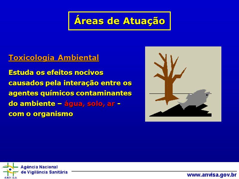 Áreas de Atuação Toxicologia Ambiental