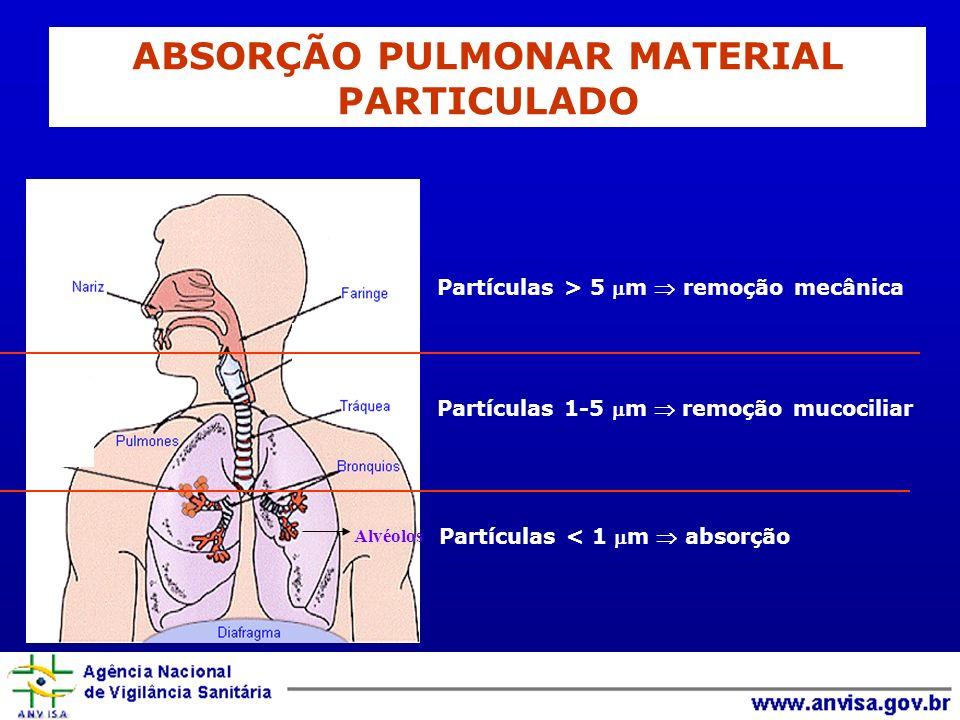 ABSORÇÃO PULMONAR MATERIAL PARTICULADO