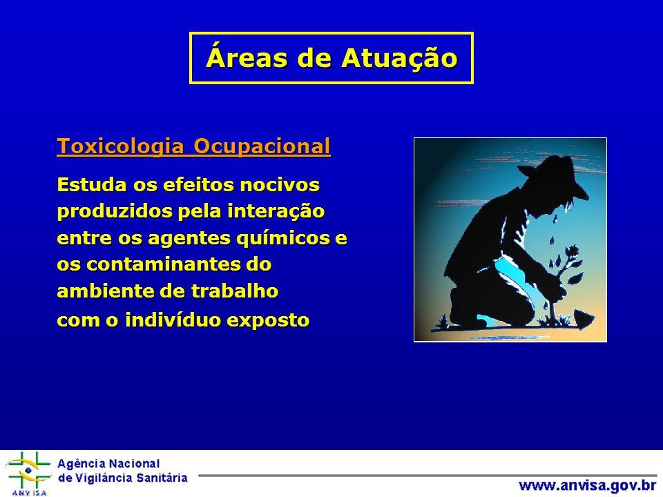 Áreas de Atuação Toxicologia Ocupacional