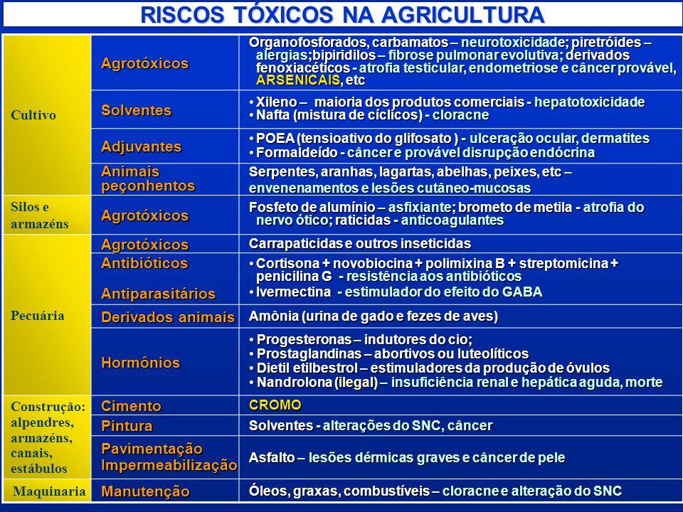 RISCOS TÓXICOS NA AGRICULTURA